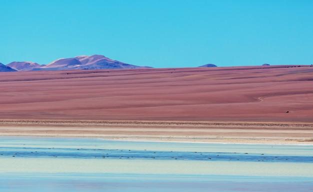 Ongewone berglandschappen in altiplano van bolivia in zuid-amerika