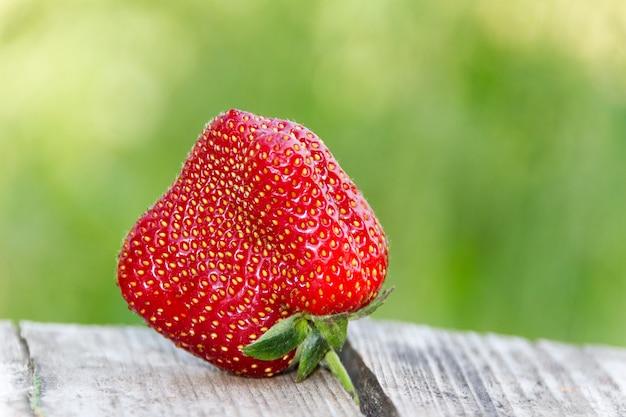 Ongewone vierkante aardbeien, close-up