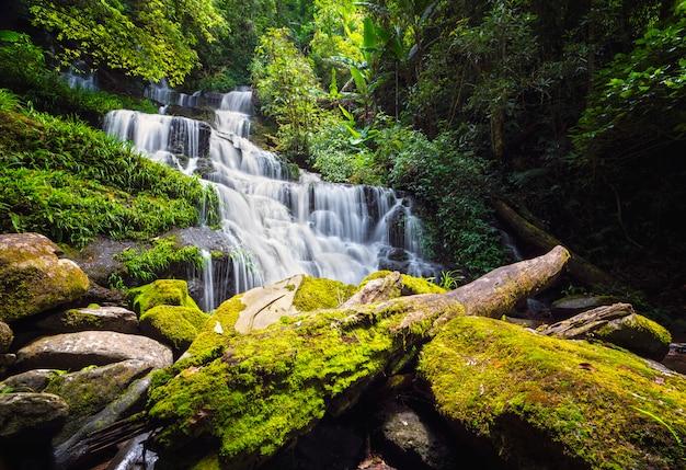 Ongeziene man daeng-waterval in phuhinrongkla-park