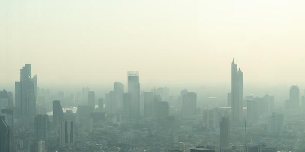 Ongezonde luchtverontreiniging stof in de stad