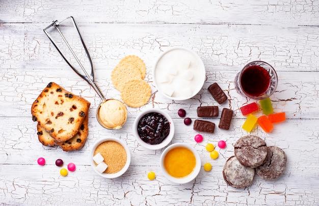 Ongezonde producten met veel suiker