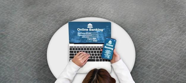 Online bankieren voor digitale geldtechnologie