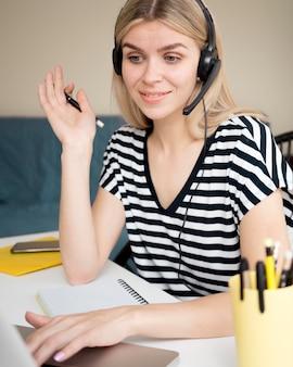 Online cursussen op afstand die studenten willen beantwoorden