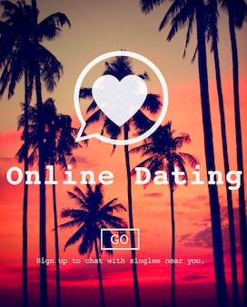 Online dating courting online messaging sociale netwerk concept