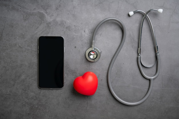 Online medische zorgapplicatie op smartphone