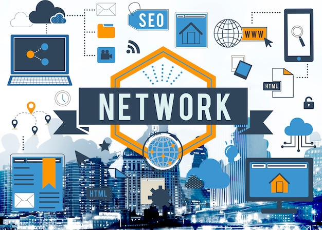 Online netwerk internet verbinding digitale concept