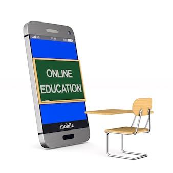 Online onderwijs op wit.