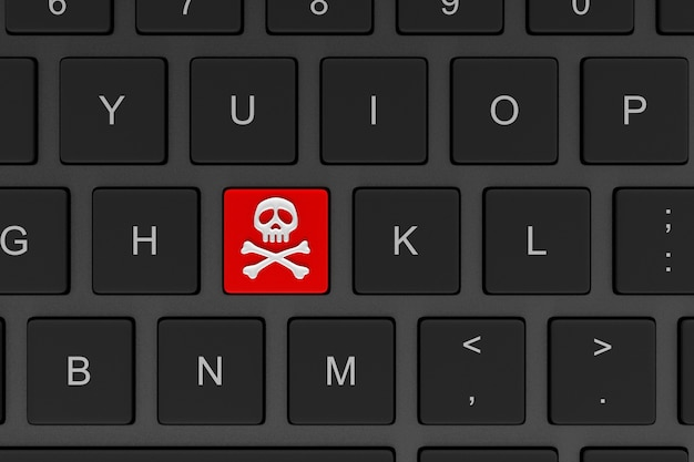 Online piraterij concept 3d illustratie