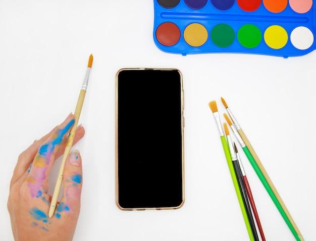 Online schildercursus met mobiele telefoon