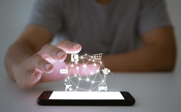 Online technologie samenleving winkelen transport communicatiesysteem zoek reisbericht