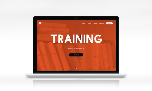 Online webpagina-interface voor afstandsonderwijs Gratis Foto