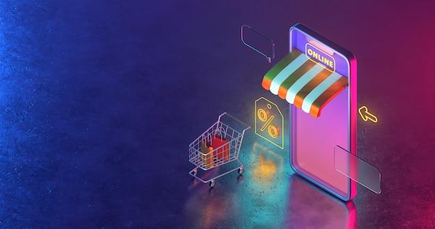 Online winkel op mobiele applicatie.