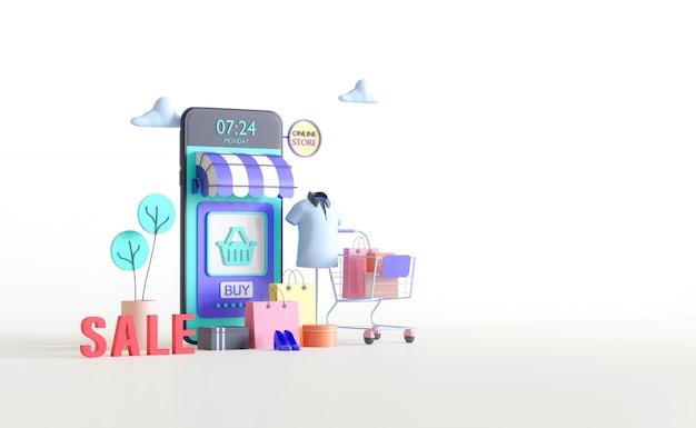 Online winkel op mobiele applicatie