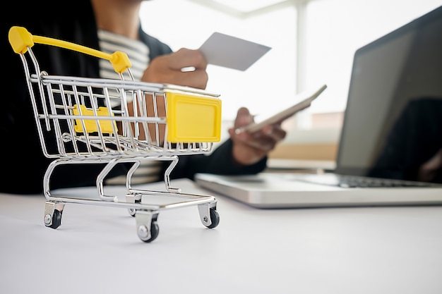 Online winkelconcept