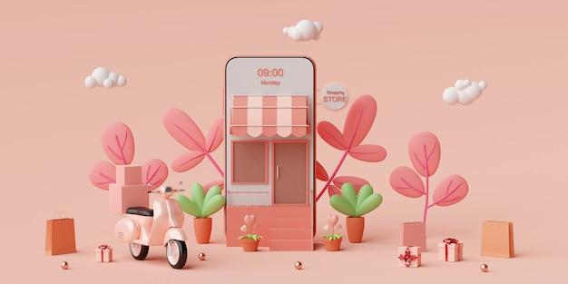 Online winkelen en bezorgservice op mobiele applicatie