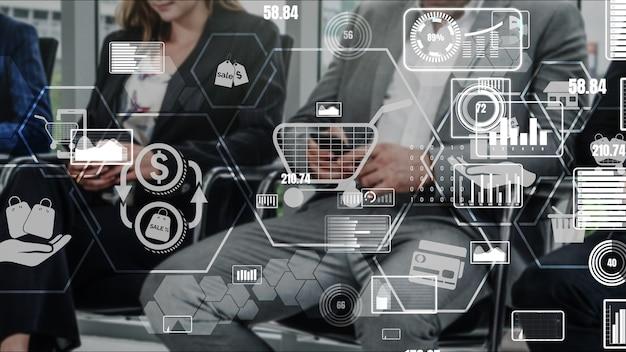 Online winkelen en internet geld technologie conceptueel
