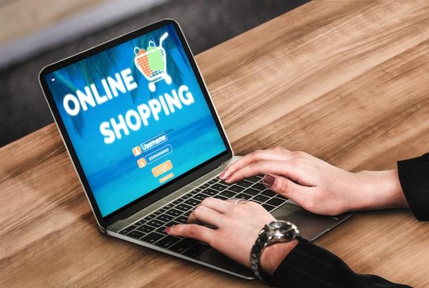 Online winkelen en internetgeldtechnologie