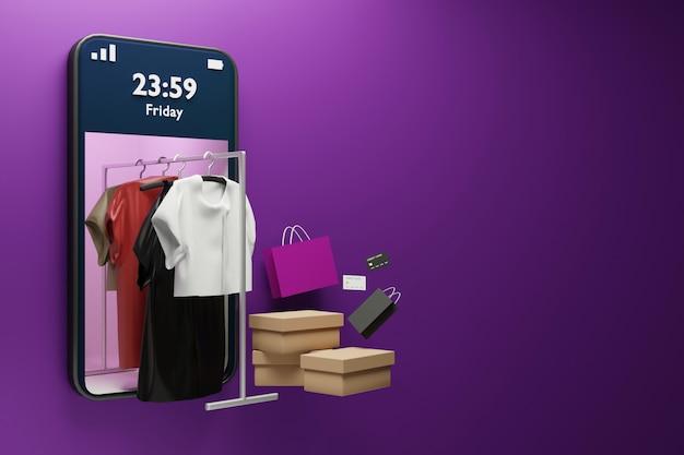Online winkelen met smartphone op aanvraag