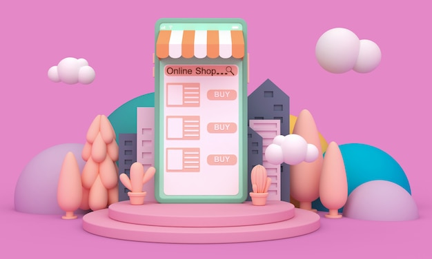 Online winkelen mobiele applicatie