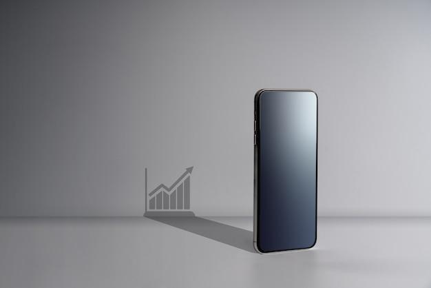 Online winkelen & sociale media icoon met smartphone Premium Foto