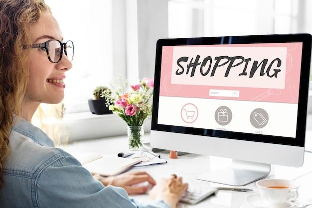Online winkelen verzending internet commerce concept