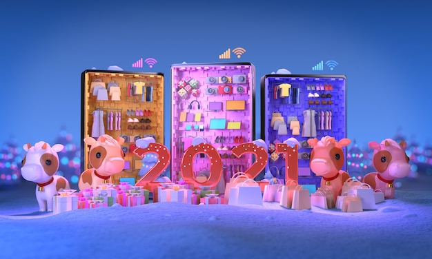 Online winkelen voor winteruitverkoop