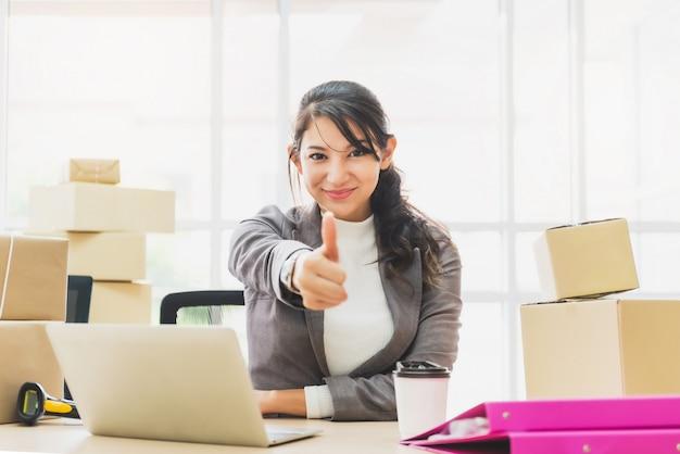 Online zakelijk succes concept