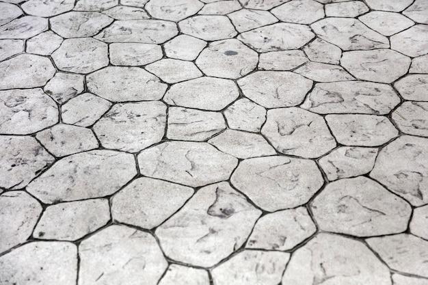 Onregelmatig stenen pad