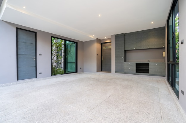 Onroerend goed garage parkeren huis interieur exterieur