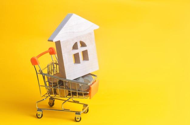 Onroerend goed investeringen en huis hypotheek financiële concept.