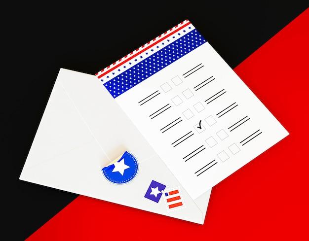 Ons verkiezingenconcept met exemplaarruimte