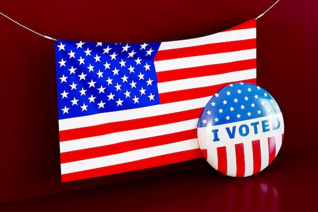 Ons verkiezingsconcept met amerikaanse vlag