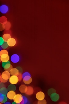Onscherp kleurrijke lichtpunten voor nieuwjaar kerst achtergrond