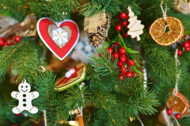 Onscherpe achtergrond kerstboom