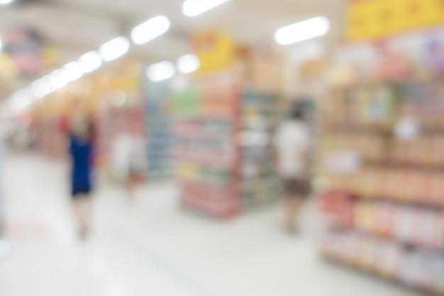 Onscherpe achtergrond: supermarkt