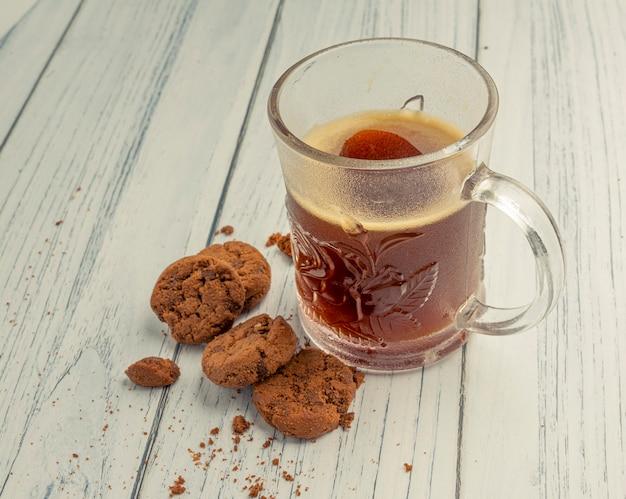 Ontbijt koffie brood koekjes