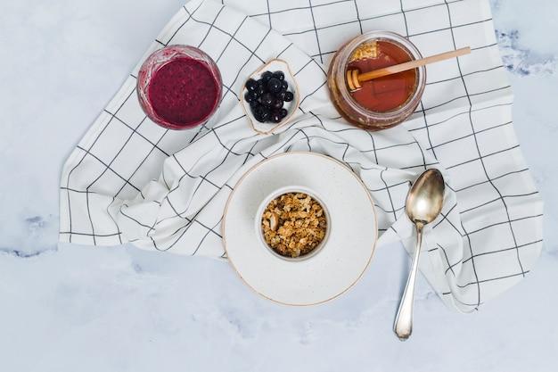 Ontbijt met ontbijtgranen
