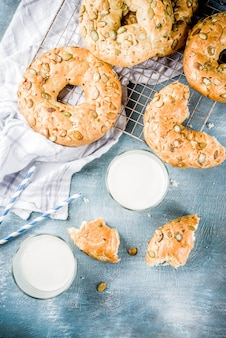 Ontbijtgranen bagels