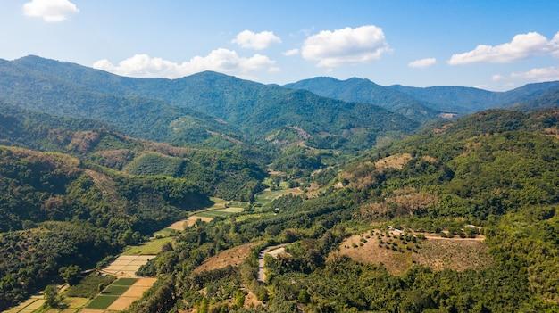 Ontbossing en ruimtelijke ordening in het hoogland in de provincie nan, thailand