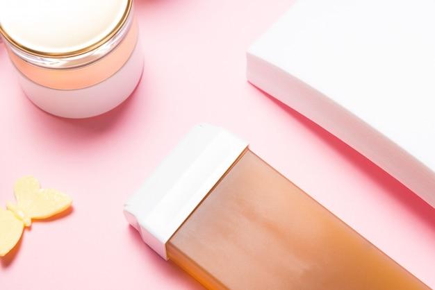 Ontharingswascartridge en vellen papier, waxset voor ontharingshars
