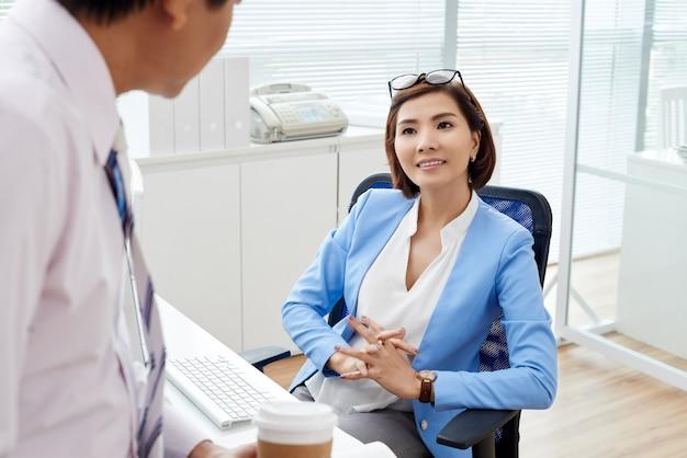 Ontmoeting met werknemer