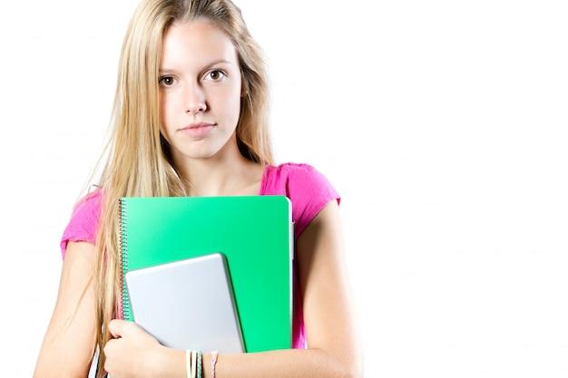 Ontspanning onderwijs jonge volwassene mooie positief