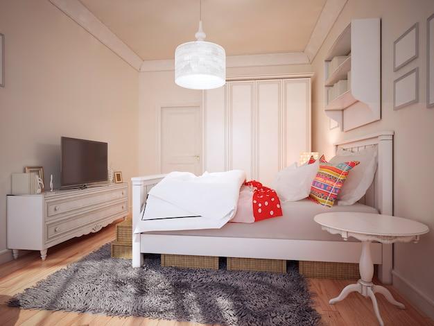Ontwerp art deco slaapkamer.