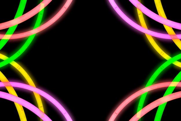 Ontwerp gemaakt van neonlicht buis