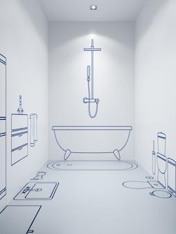 Ontwerp van badkamerplanning