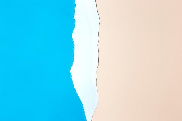 Ontwerp van de achtergrond van roze en blauw papier