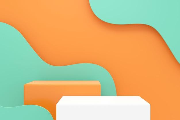 Ontwerp van productdisplay. 3d-weergave.