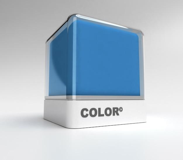Ontwerpblok in blauwe kleur