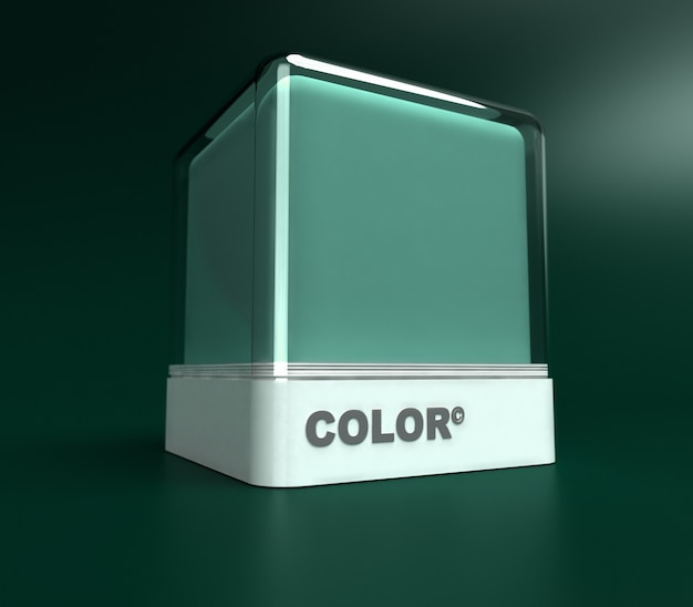 Ontwerpblok in een groene kleur