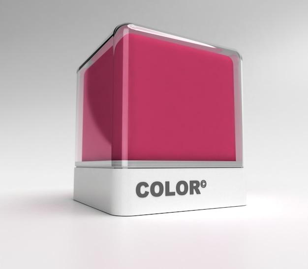 Ontwerpblok in magenta kleur